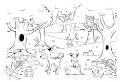 40 Ausmalbild Tiere Im Wald - Besten Bilder von ausmalbilder