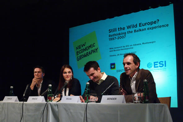 Gerald Knaus, Alida Vracic, Erion Veliaj, and Kristof Bender