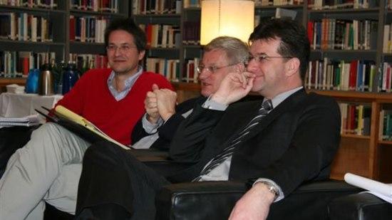 Gerald Knaus, Carl Bildt, and Miroslav Lajcak. Photo: ECFR