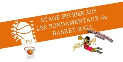Stage de basket-ball pendant les vacances de février 2015 (du 9 au 13 février 2015)