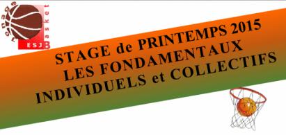 Stage de Printemps 2015