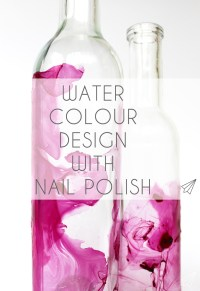 How to make: water colour design with nail polish  [es ...