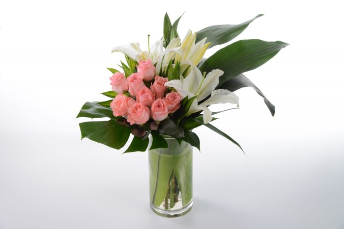 Sweetest You Roses with Lilies Bouquet | Flowers In Vase | Eska Creative Gifting