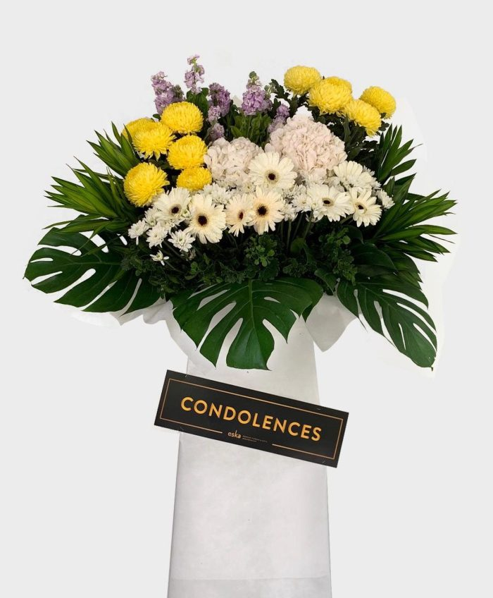 Comforting Thoughts Funeral Flower Stand | Condolence Flower | Eska Creative Gifting