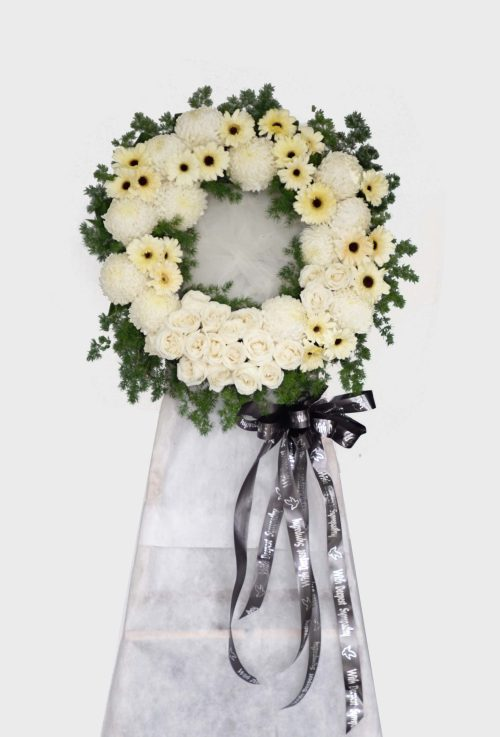 Peacful Thoughts Sympathy Funeral Flower Stand | Condolence Flower | Eska Creative Gifting