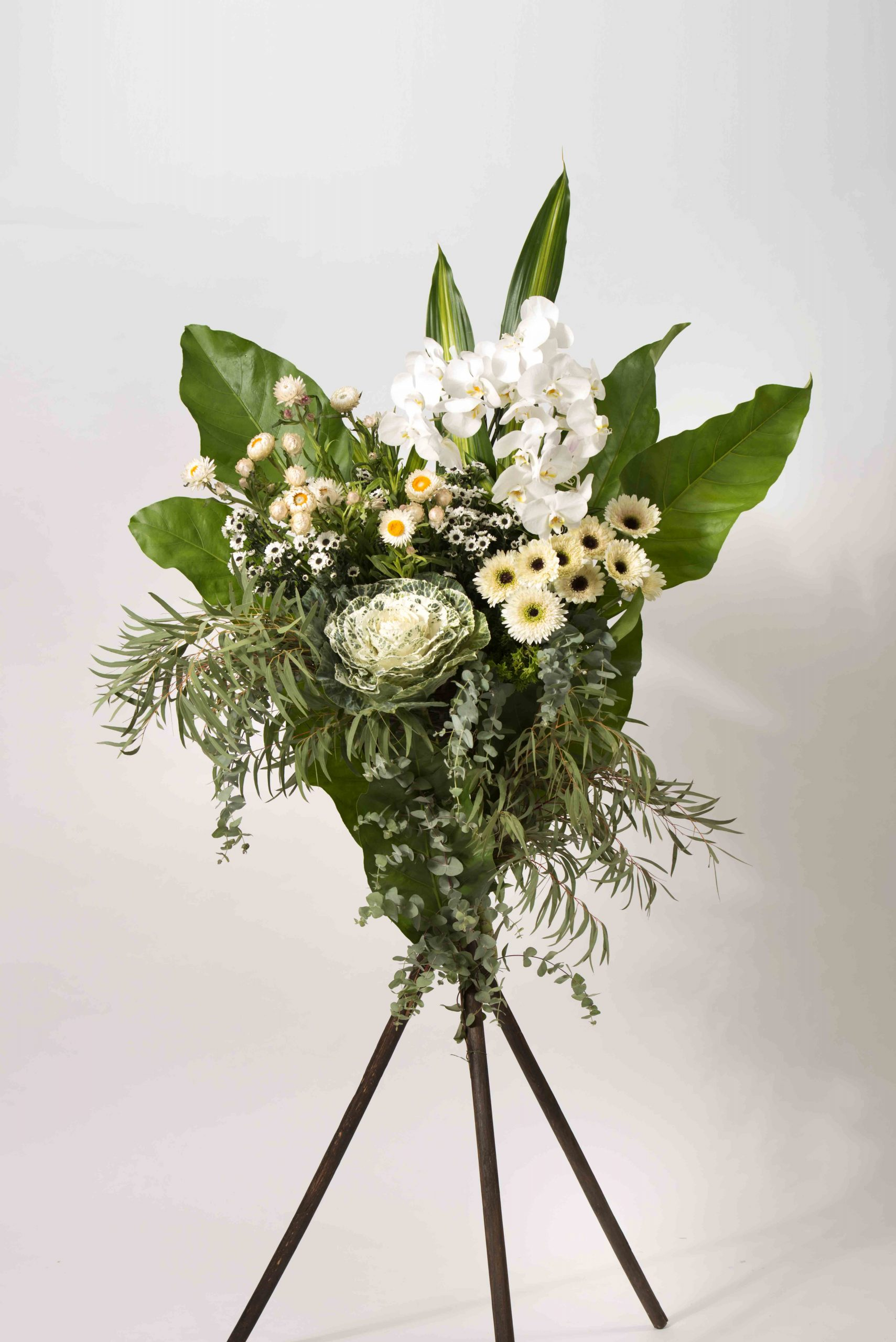 Simply Pure Sympathy Funeral Flower Stand | Condolence Flower | Eska Creative Gifting