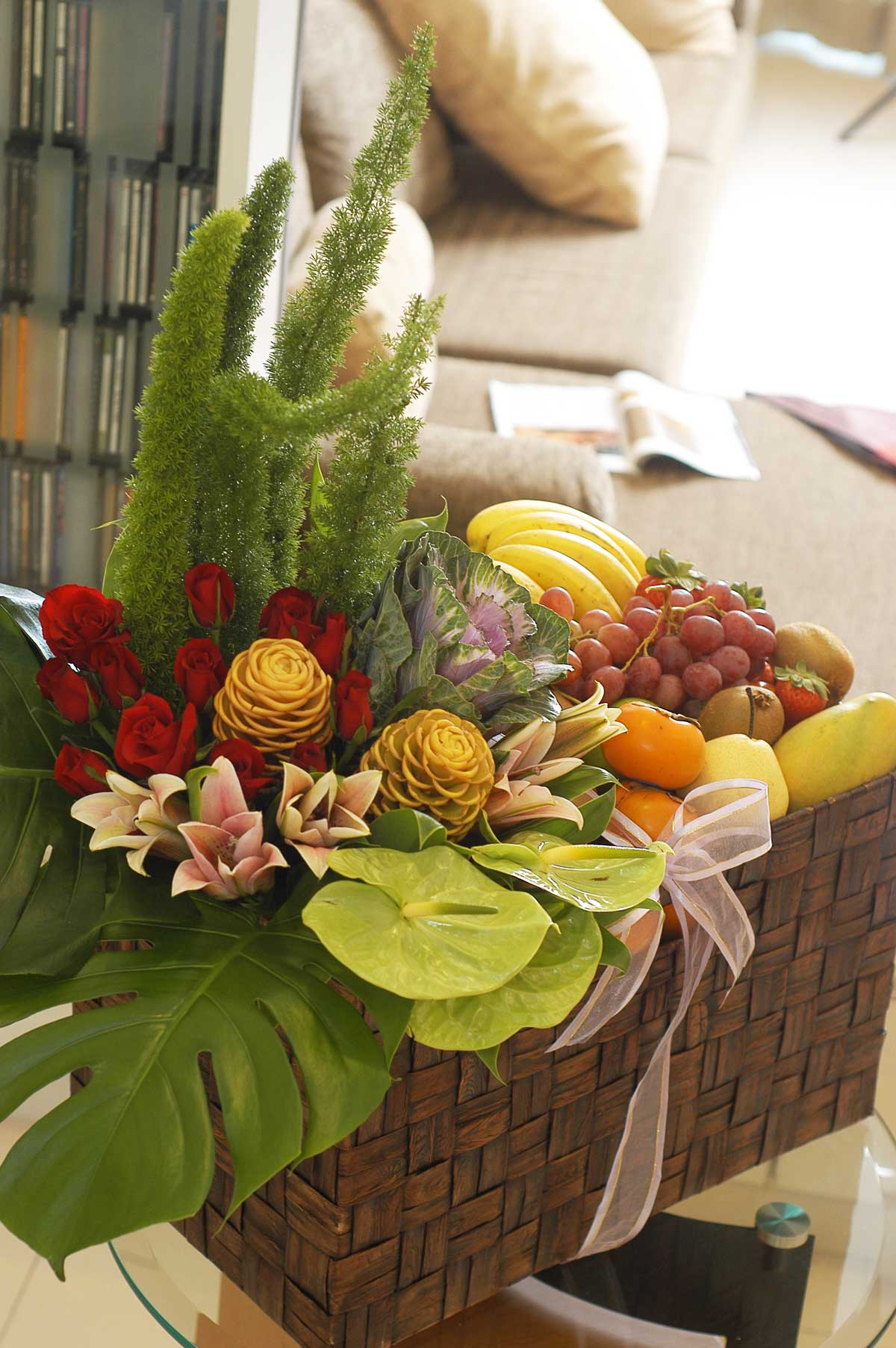 Festive Fruit and Flowers | Hari Raya Hampers & Gift Set | Eska Creative Gifting