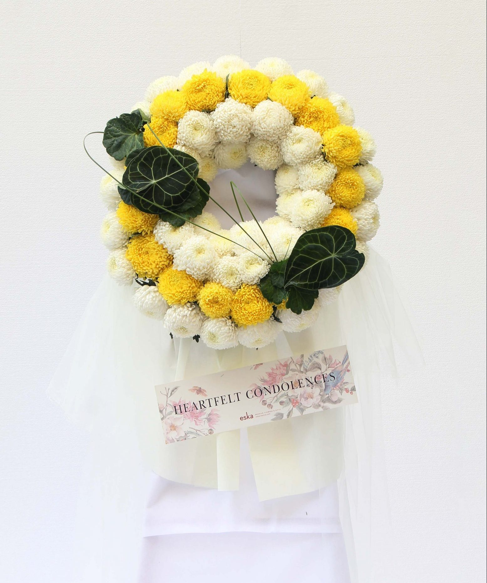 Pastel Peace Funeral Flower Stand | Condolence Flower | Eska Creative Gifting