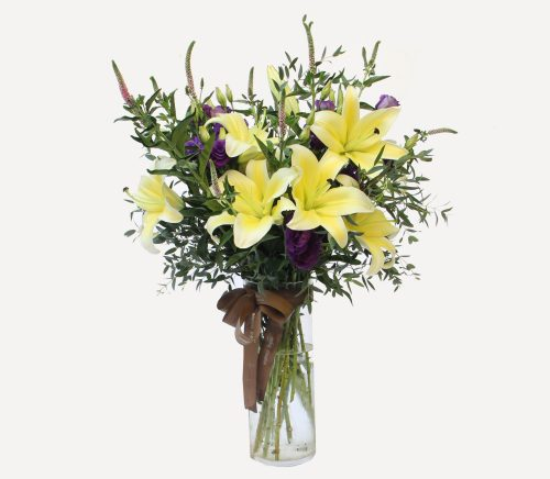 Exquisite Lilies Arrangement | Flowers In Vase | Eska Creative Gifting