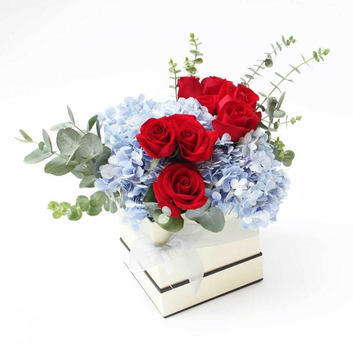 Love Box Bouquet | Beautiful Flower Box and Baskets | Eska Creative Gifting