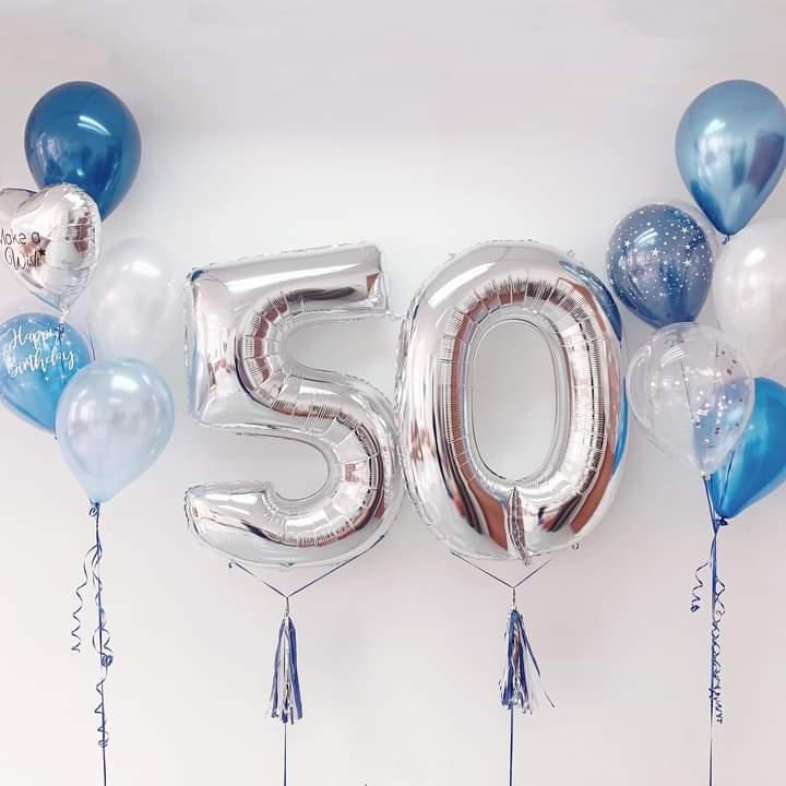 Numeric Foil and Fancy Balloons | Helium Balloons | Eska Creative Gifting