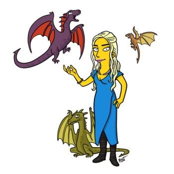 Game-Of-Thrones-Daenerys-Targaryen-simpsonlar