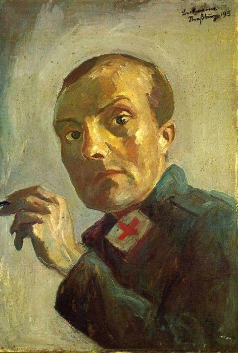 Max-Beckmann_Selbstbildnis-als-krankenpfleger-1915-selfportrait