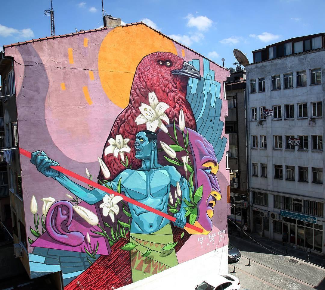 Istanbul Street Art Murals And Graffitis Kadikoy Sokak Sanati Duvar