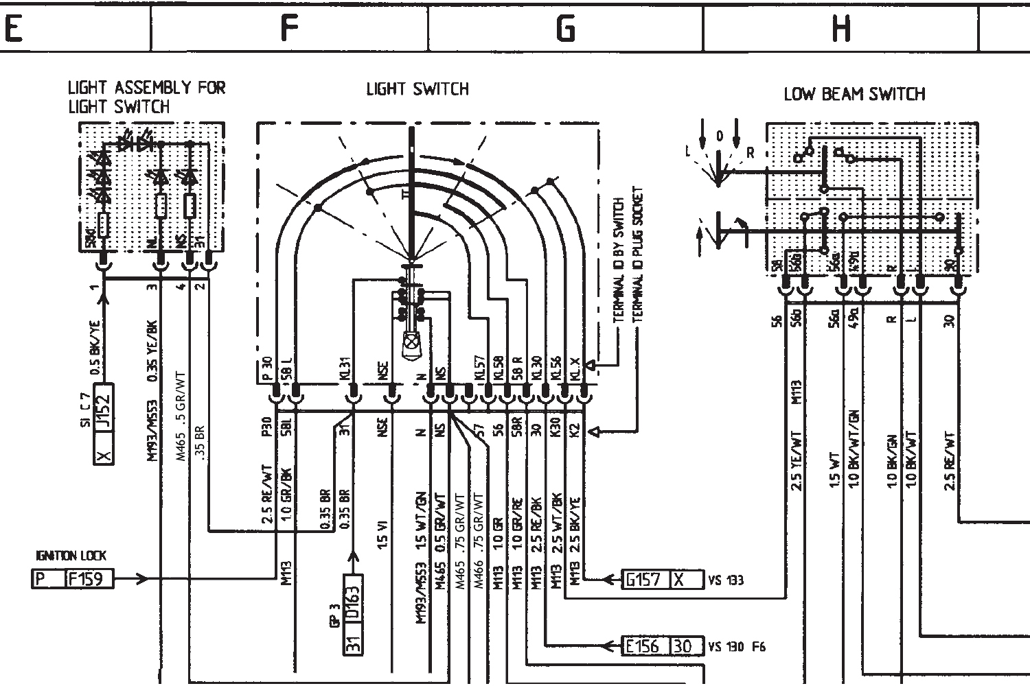 2003 Mercedes C230 Kompressor Fuse Panel Diagram