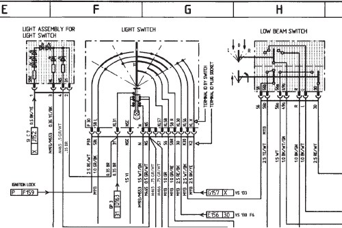 small resolution of porsche headlight wiring wiring diagram blogboxster headlight switch wiring diagram rennlist porsche porsche 944 headlight wiring