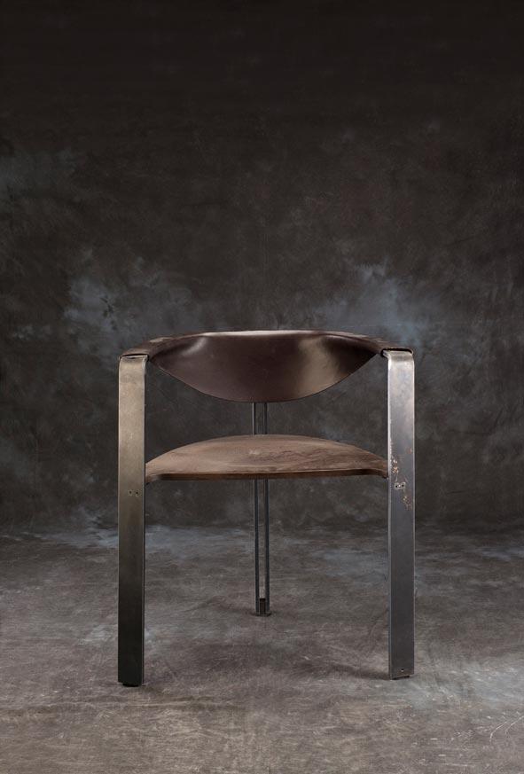 E mobilier Mandala vtc 12 06 001 - Le siège Mandala  acier cuir