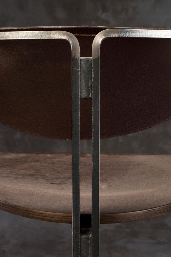 E mobilier Mandala vtc 12 06 008 - Le siège Mandala  acier cuir