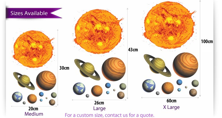Solar System Wall Stickers Uk