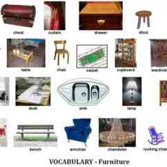 Chair Parts Names Office Kl Quotfurniture Quot Vocabulary 250 43 Items Illustrated Esl Buzz