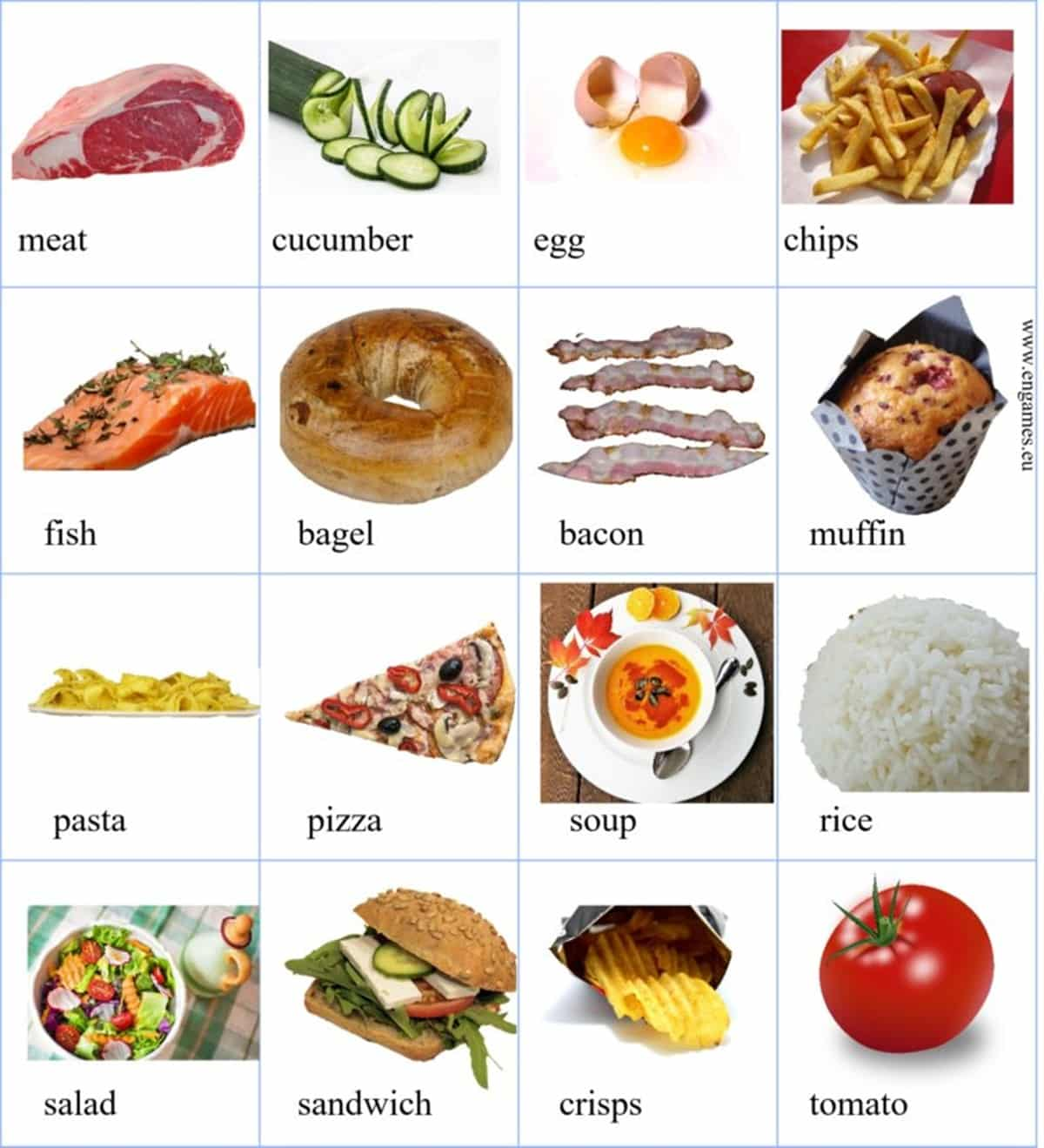 Day Spanish Food Worksheet