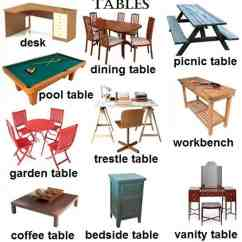 Styles Of Chairs Names Metal Patio Rocking Quotfurniture Quot Vocabulary 250 43 Items Illustrated Esl Buzz