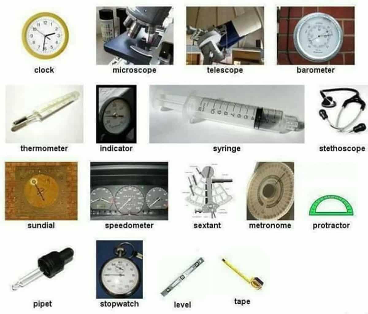 English Vocabulary: Laboratory Equipment and Scientific Instruments 15