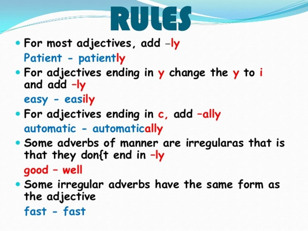 how to form an adjective
