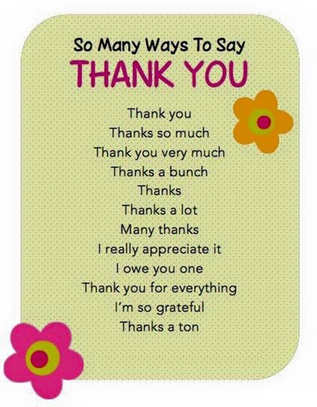 "30+ Delightful Ways to Say ""Thank You"" in English 14"