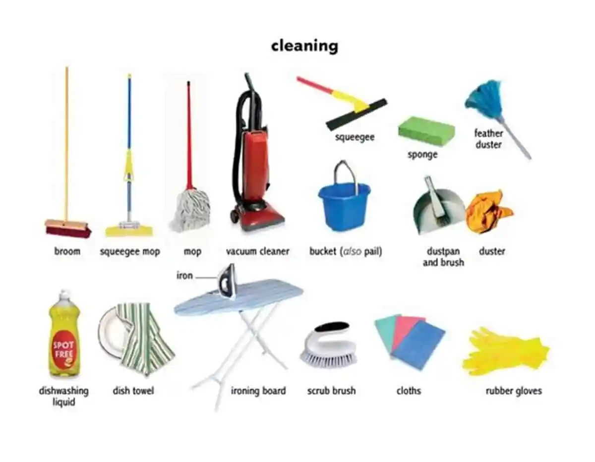 English Vocabulary: House Cleaning 14
