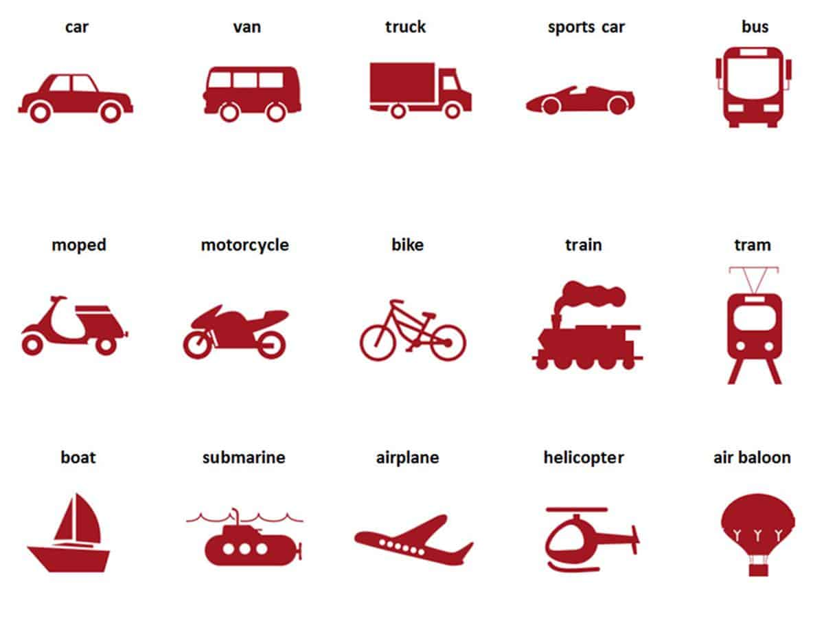 Street Vehicles and Transportation Vocabulary in English 17