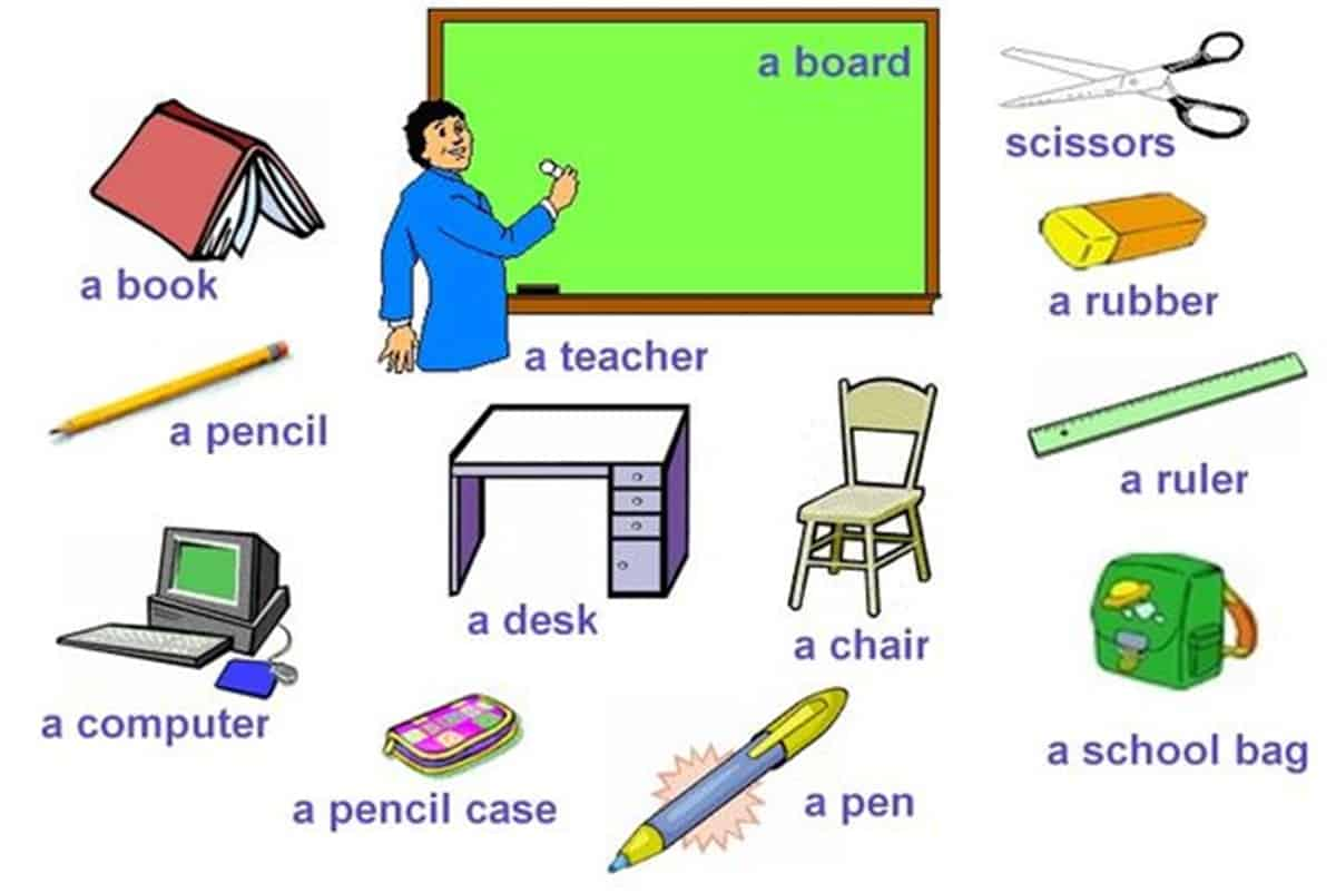 At the School Vocabulary in English