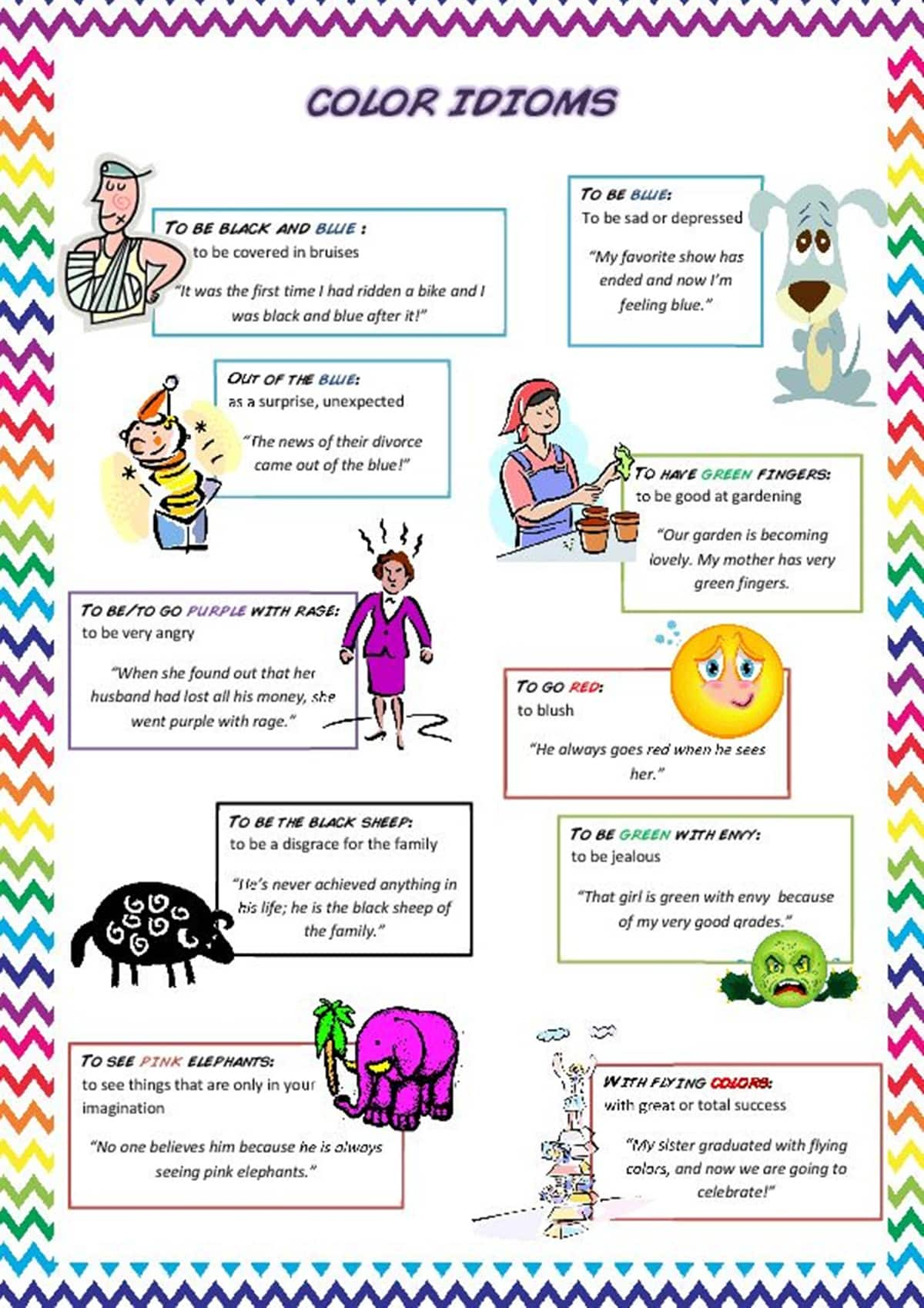 Awesome Color Idioms That Will Improve Your English