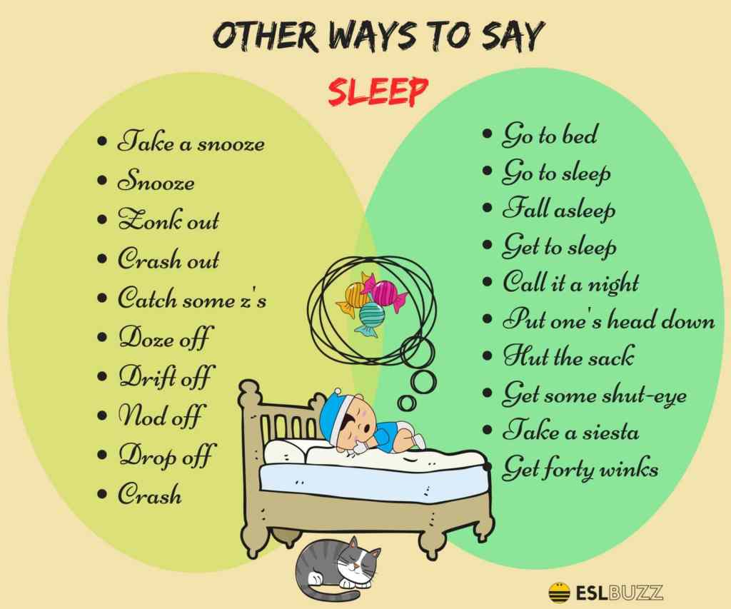 "50+ Different Ways to Say ""I'm Going to Sleep"" in English 14"