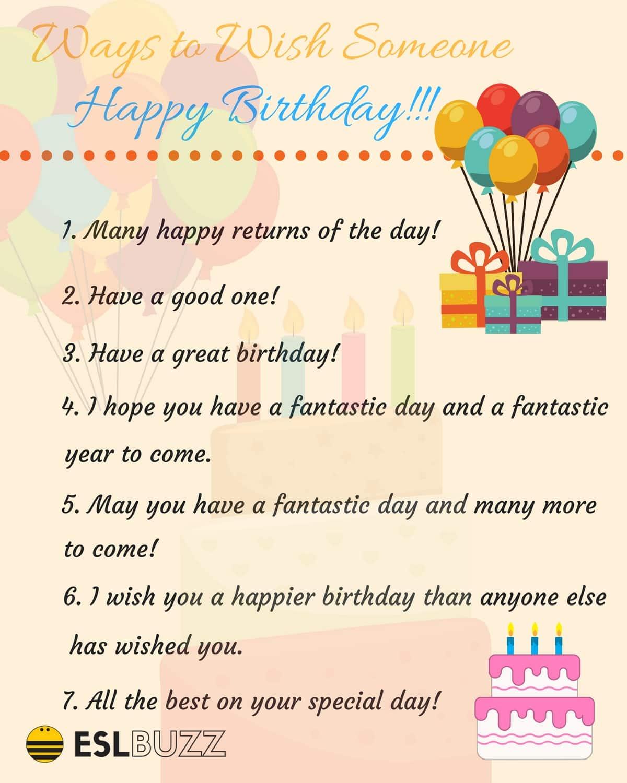 20 Creative Ways To Say Happy Birthday Eslbuzz Learning English