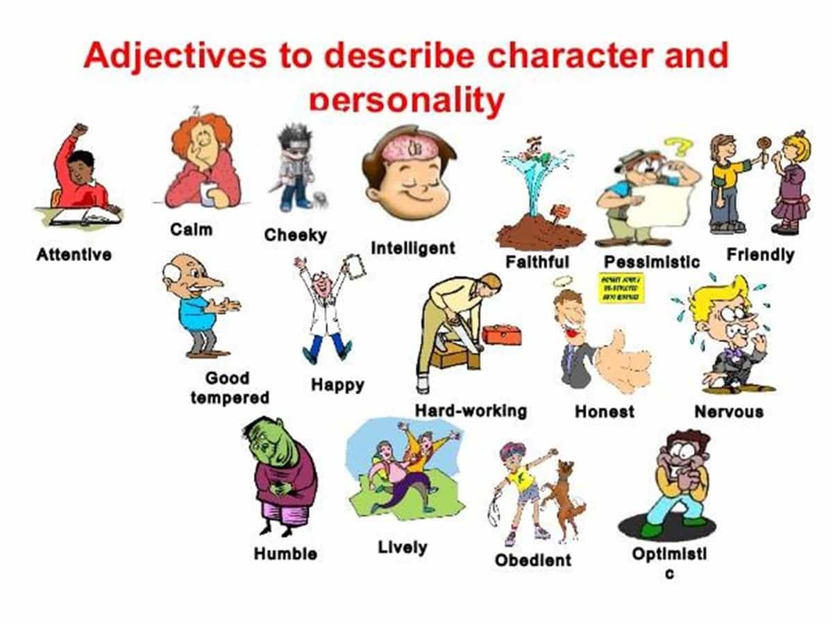 Describing Characters Worksheet