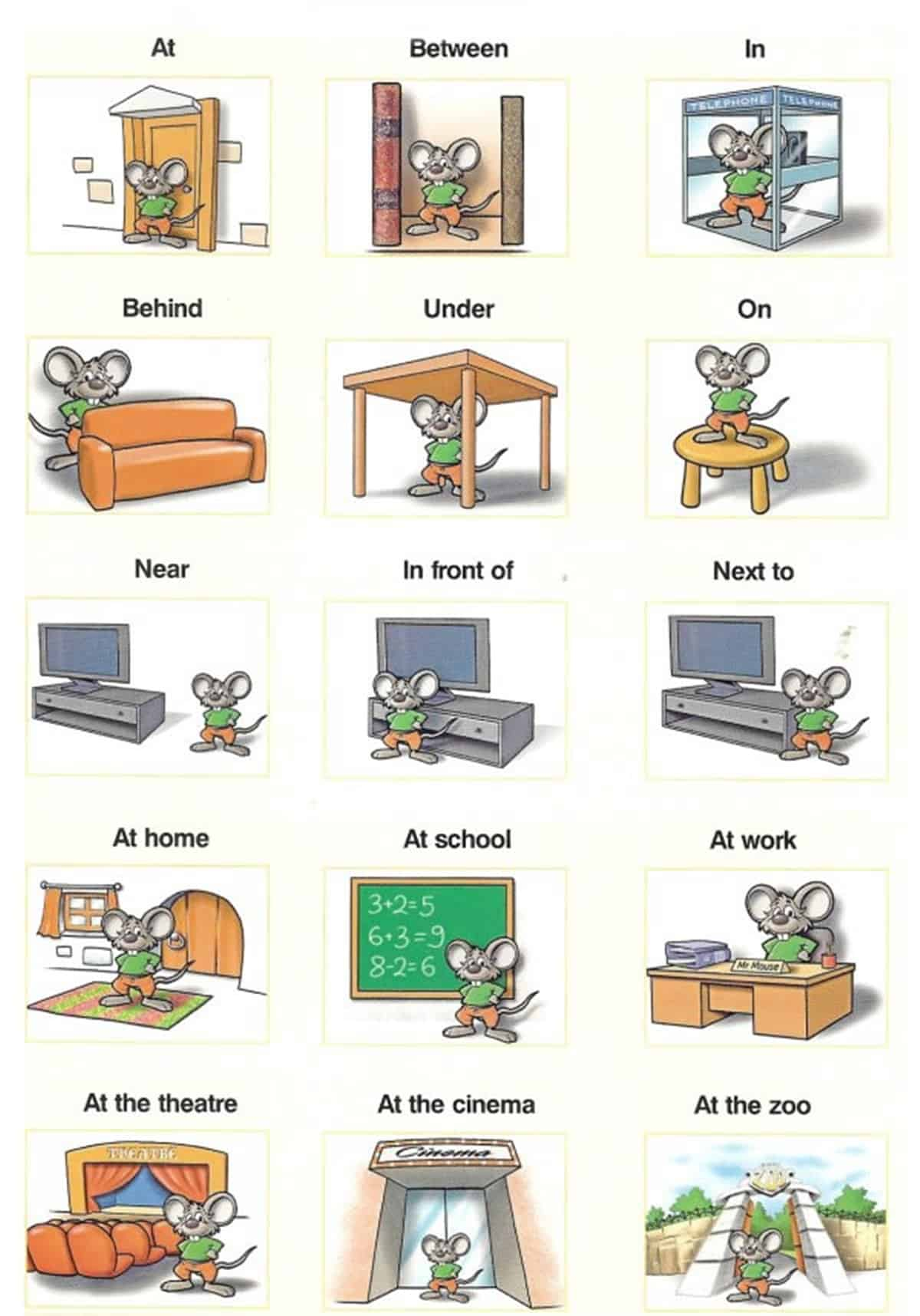 Prepositions of Time, Place and Movement - ESL Buzz