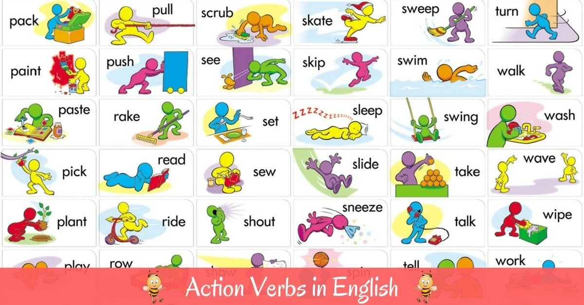 vocabulary action verbs in english esl buzz - Action Berbs