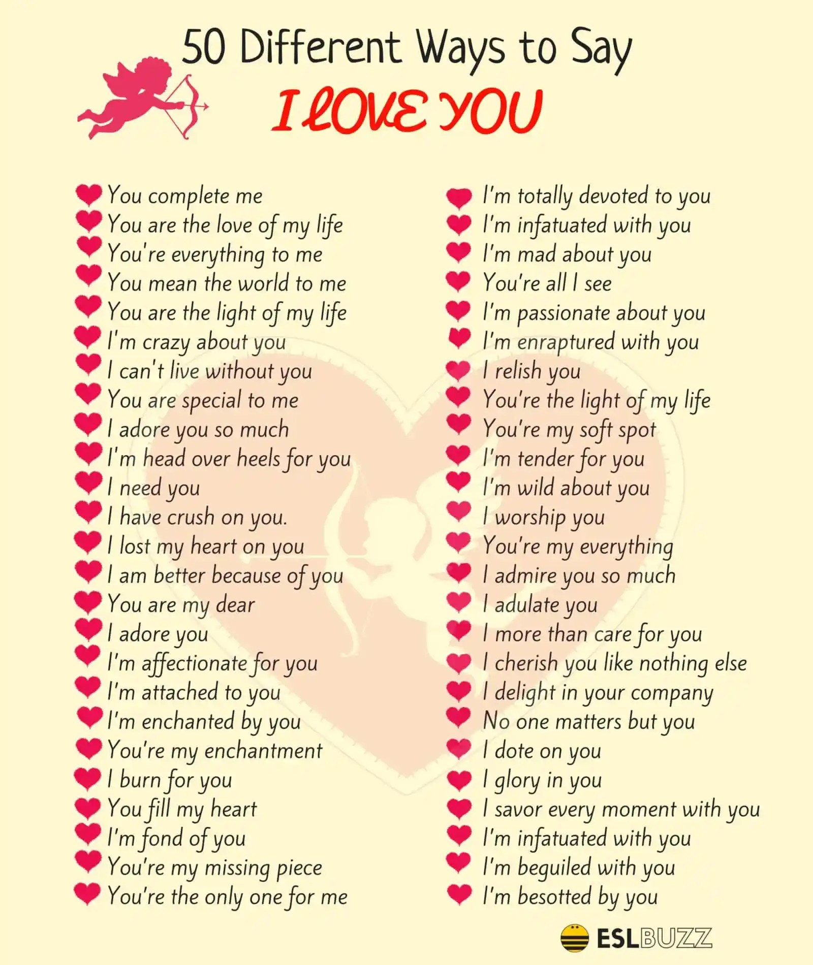 "100 Ways To Say I Love You In Different Languages 3 Ways to Say ""I"