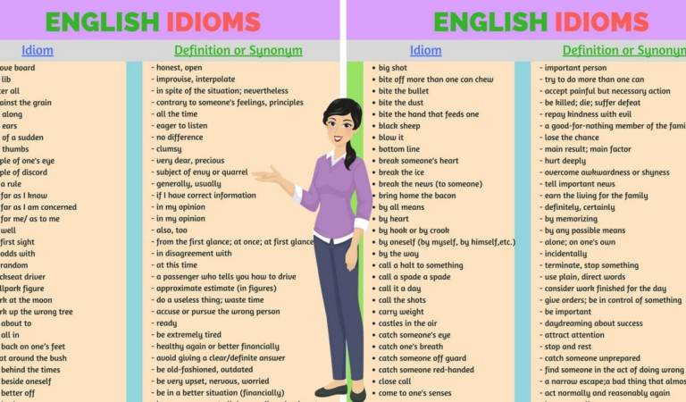 200+ Common English Idioms and Phrases with Their Meaning