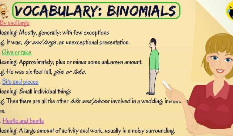 40 Common Binomial Expressions in English