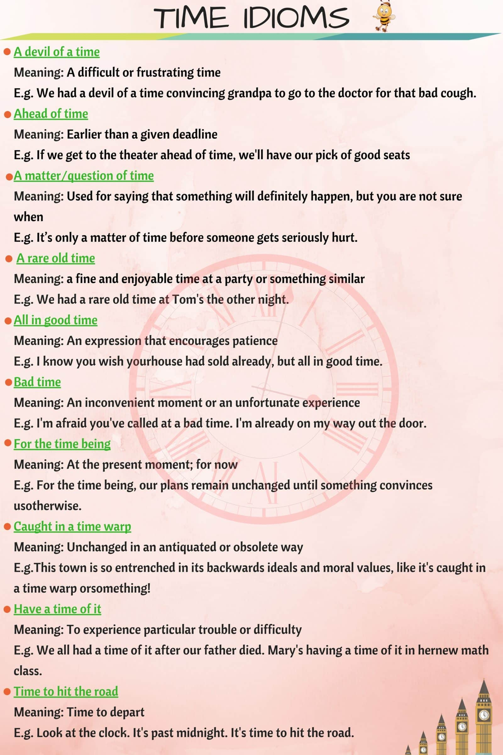 30 Common English Idioms Related to TIME 14