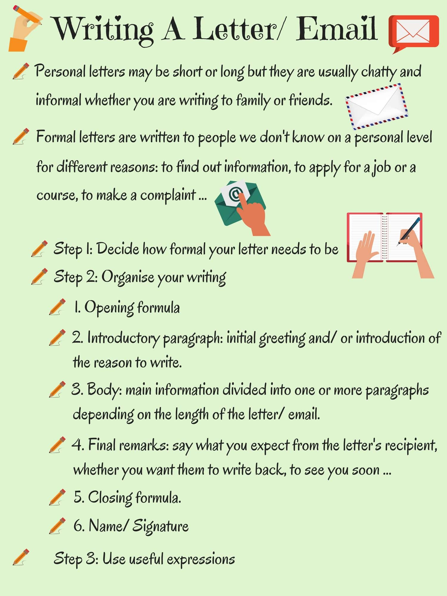 Informal vs. Formal English: Writing A Letter or Email 14