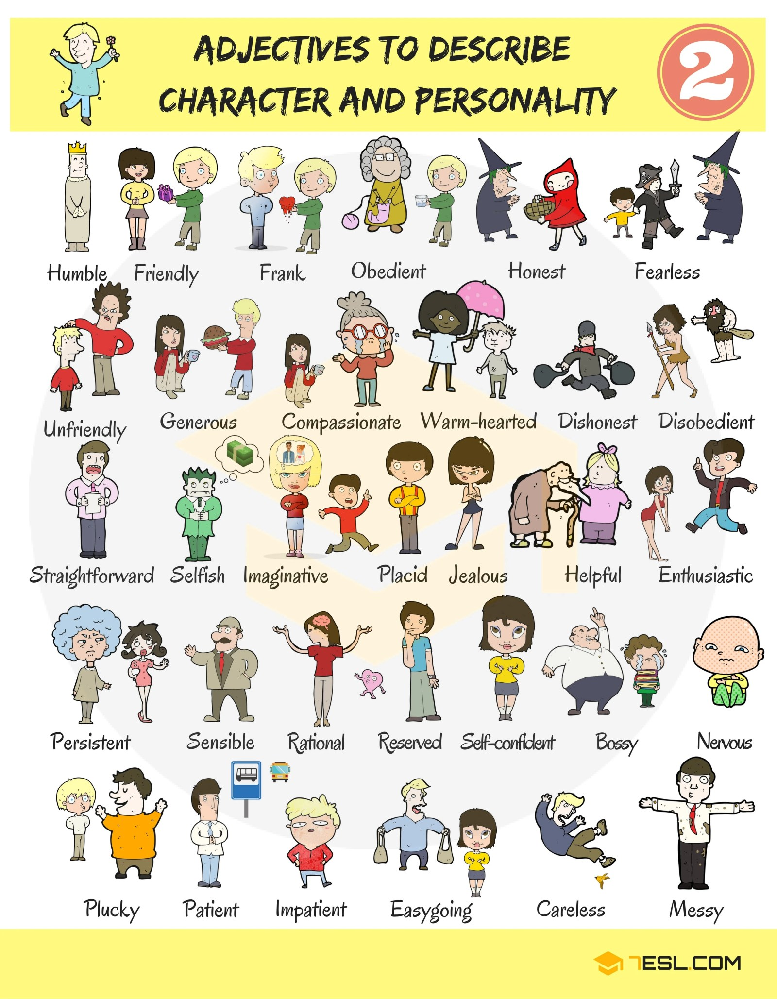 English Adjectives for Describing Character and Personality 14