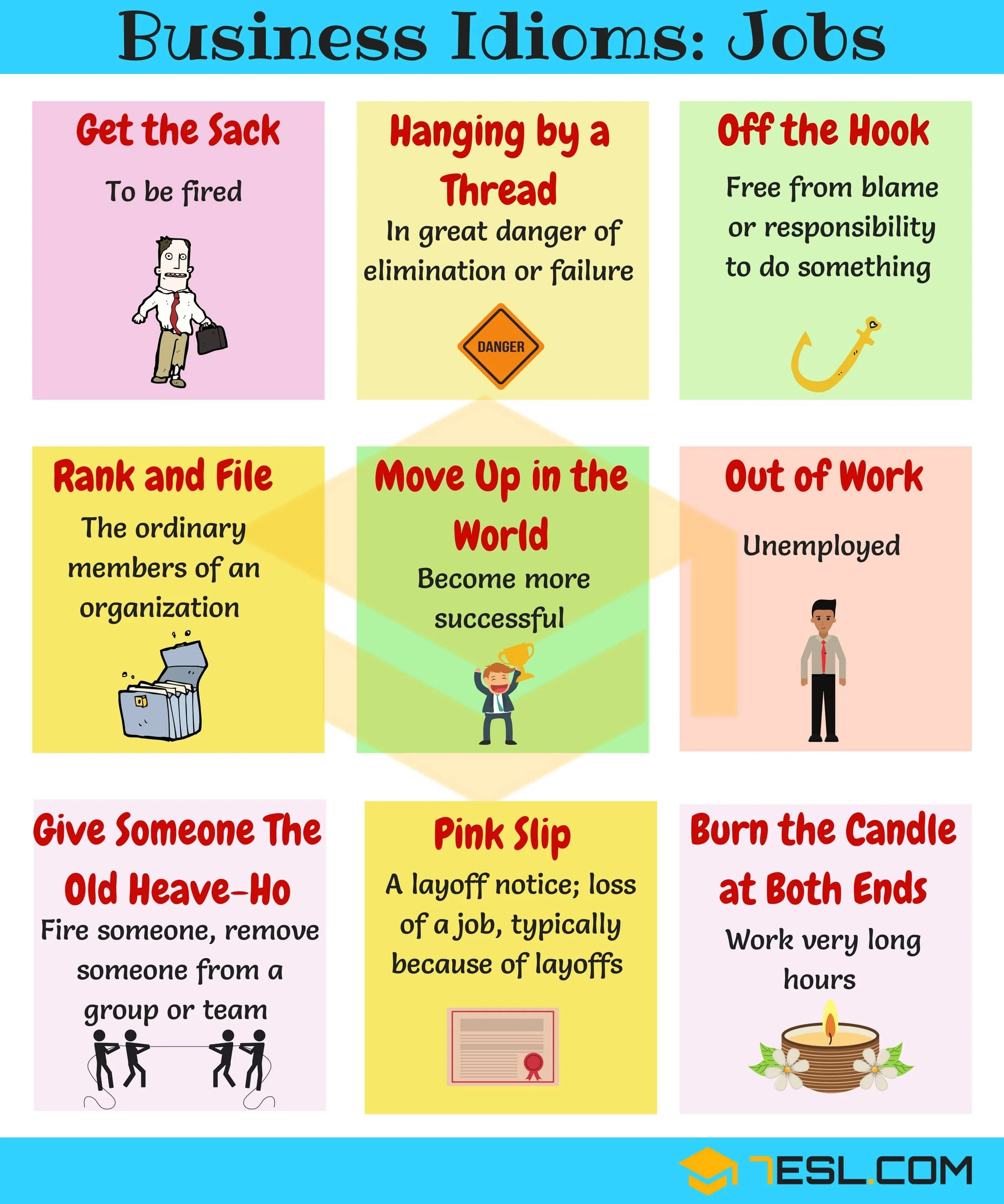 Idioms About Job Learn 10 Useful English Idioms Relating
