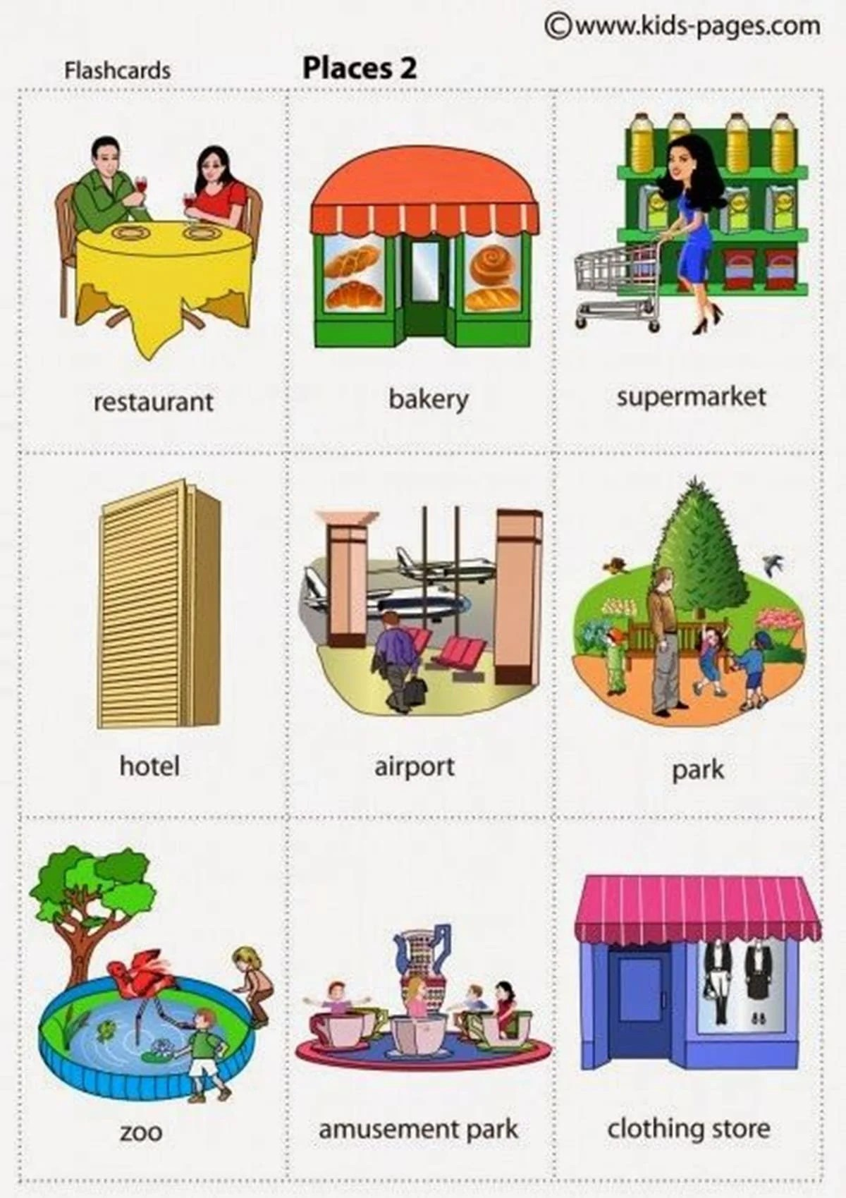 Learn English Vocabulary Places In The City