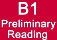 B1 Preliminary Reading