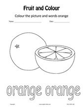 English for Kids, ESL Kids Fruits & Colours Worksheets