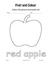 English for Kids, ESL Kids Fruits & Colours Worksheets