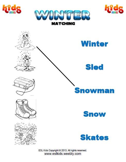 Number Names Worksheets  Winter Worksheets For Kids